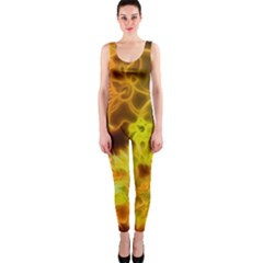 Glowing Colorful Flowers Onepiece Catsuits by FantasyWorld7