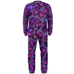 Purple Cheetah Pattern  OnePiece Jumpsuit (Men)