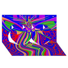Transcendence Evolution Twin Hearts 3d Greeting Card (8x4)  by icarusismartdesigns