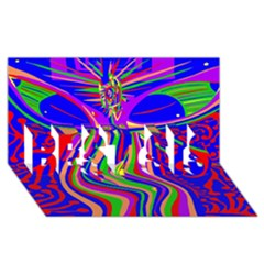 Transcendence Evolution Best Sis 3d Greeting Card (8x4)  by icarusismartdesigns