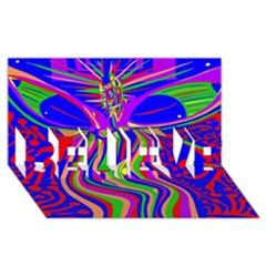 Transcendence Evolution Believe 3d Greeting Card (8x4)  by icarusismartdesigns