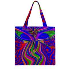 Transcendence Evolution Grocery Tote Bags by icarusismartdesigns
