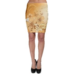 Wonderful Flowers With Butterflies Bodycon Skirts by FantasyWorld7
