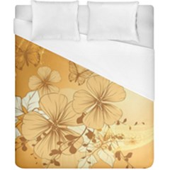 Wonderful Flowers With Butterflies Duvet Cover Single Side (Double Size) by FantasyWorld7