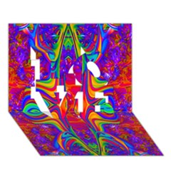 Abstract 1 Love 3d Greeting Card (7x5)