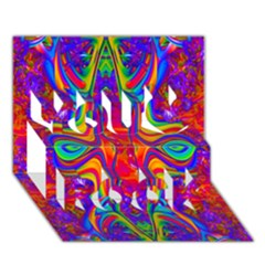Abstract 1 You Rock 3D Greeting Card (7x5)