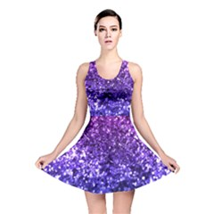 Midnight Glitter Reversible Skater Dresses by KirstenStarFashion