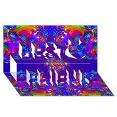 Abstract 2 Best Friends 3d Greeting Card (8x4)