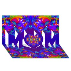 Abstract 2 Mom 3d Greeting Card (8x4)  by icarusismartdesigns