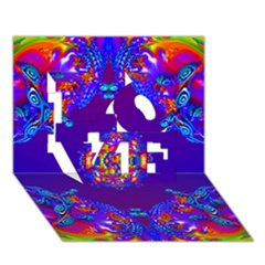 Abstract 2 Love 3d Greeting Card (7x5)  by icarusismartdesigns