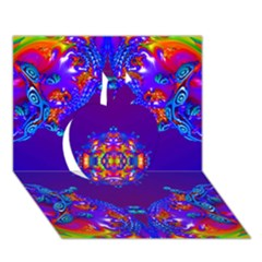 Abstract 2 Apple 3d Greeting Card (7x5)  by icarusismartdesigns