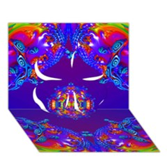 Abstract 2 Clover 3d Greeting Card (7x5)  by icarusismartdesigns