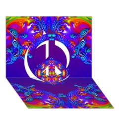 Abstract 2 Peace Sign 3d Greeting Card (7x5)