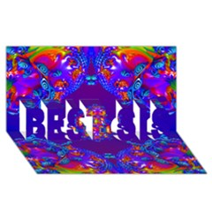 Abstract 2 Best Sis 3d Greeting Card (8x4)  by icarusismartdesigns