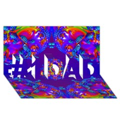 Abstract 2 #1 Dad 3d Greeting Card (8x4)