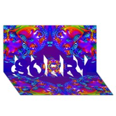 Abstract 2 Sorry 3d Greeting Card (8x4)