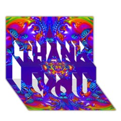 Abstract 2 Thank You 3d Greeting Card (7x5)  by icarusismartdesigns