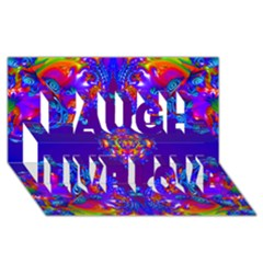 Abstract 2 Laugh Live Love 3d Greeting Card (8x4)