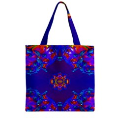 Abstract 2 Zipper Grocery Tote Bags