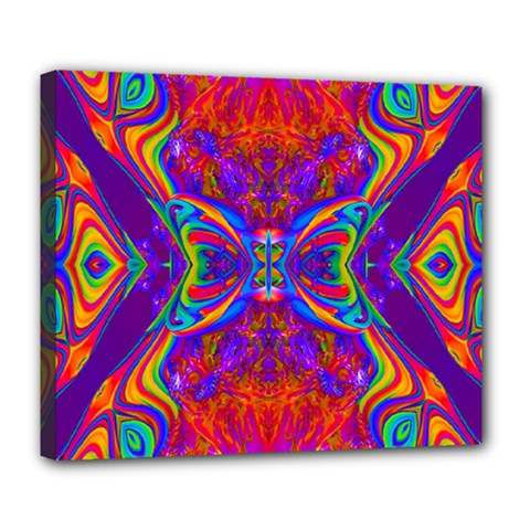 Butterfly Abstract Deluxe Canvas 24  X 20  (stretched) by icarusismartdesigns