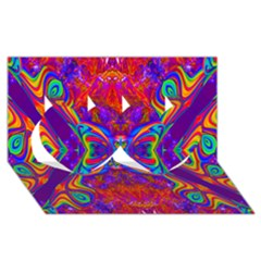 Butterfly Abstract Twin Hearts 3d Greeting Card (8x4) by icarusismartdesigns