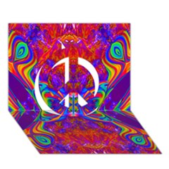 Butterfly Abstract Peace Sign 3d Greeting Card (7x5) by icarusismartdesigns