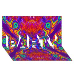Butterfly Abstract Party 3d Greeting Card (8x4) by icarusismartdesigns