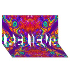 Butterfly Abstract Believe 3d Greeting Card (8x4)