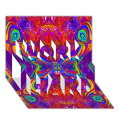 Butterfly Abstract Work Hard 3d Greeting Card (7x5) by icarusismartdesigns