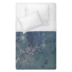 Vintage Floral In Blue Colors Duvet Cover Single Side (single Size) by FantasyWorld7