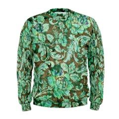 Beautiful Floral Pattern In Green Men s Sweatshirts by FantasyWorld7