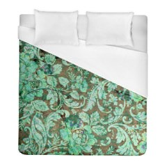 Beautiful Floral Pattern In Green Duvet Cover Single Side (Twin Size) by FantasyWorld7