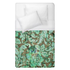 Beautiful Floral Pattern In Green Duvet Cover Single Side (single Size)