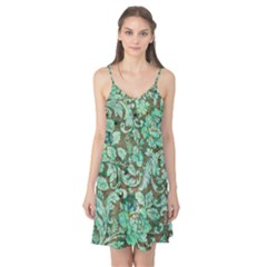 Beautiful Floral Pattern In Green Camis Nightgown by FantasyWorld7