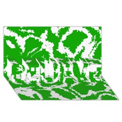 Migraine Green Believe 3d Greeting Card (8x4)