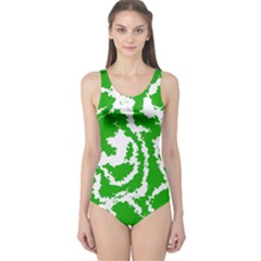 Migraine Green Women s One Piece Swimsuits by MoreColorsinLife
