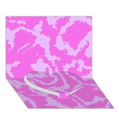 Migraine Pink Heart Bottom 3d Greeting Card (7x5)