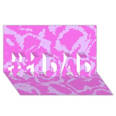 Migraine Pink #1 Dad 3d Greeting Card (8x4)