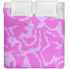 Migraine Pink Duvet Cover (King Size) by MoreColorsinLife