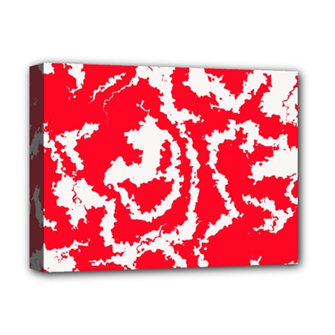 Migraine Red White Deluxe Canvas 16  X 12   by MoreColorsinLife