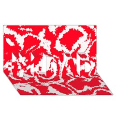 Migraine Red White #1 Dad 3d Greeting Card (8x4)