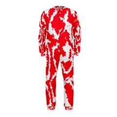 Migraine Red White Onepiece Jumpsuit (kids)