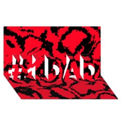 Migraine Red #1 Dad 3d Greeting Card (8x4)