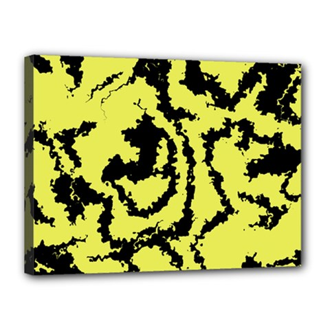Migraine Yellow Canvas 16  X 12  by MoreColorsinLife