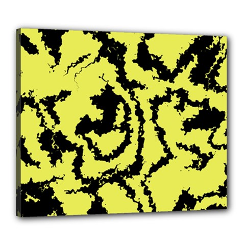 Migraine Yellow Canvas 24  X 20  by MoreColorsinLife
