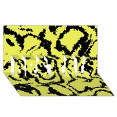 Migraine Yellow BEST SIS 3D Greeting Card (8x4)  by MoreColorsinLife