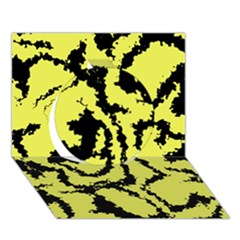 Migraine Yellow Circle 3d Greeting Card (7x5)