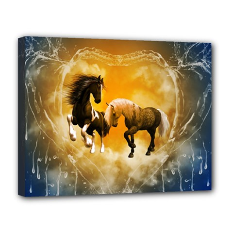 Wonderful Horses Canvas 14  X 11  by FantasyWorld7