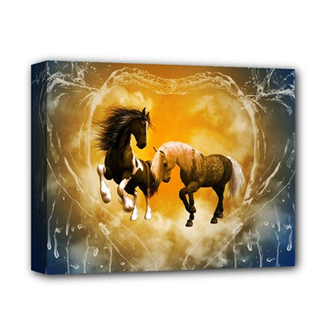 Wonderful Horses Deluxe Canvas 14  X 11  by FantasyWorld7