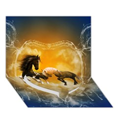 Wonderful Horses Heart Bottom 3d Greeting Card (7x5)